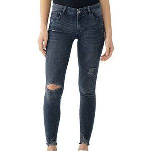 DL1961 Emma Low Rise Destroyed Jeans 23 NWT